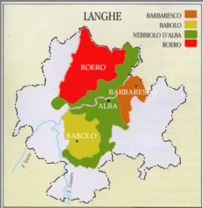 Map of Langhe
