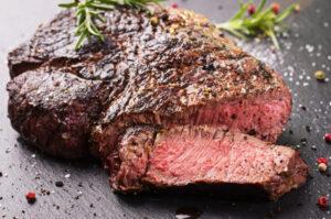 Perfekt stegt ribeye steak